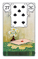 Lenormand card, picture sample, The Letter